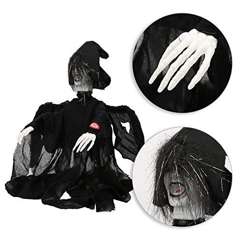 Alinory Gruselige Requisite Stabile ergonomisch gestaltete perfekte Requisiten Hexengeist Requisiten hängender Fliegender Geist für Halloween Hunted House