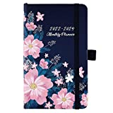 2022-2024 Pocket Planner/Calendar - 3 Year Monthly Planner from Jan 2022 - Dec 2024, 6.3' × 3.8', Monthly Planner with 61 Notes Pages and Inner Pocket, Pen Loop, Elastic Closure, 2 Book Markers