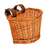 XIANGAN Wicker Kids Bike Baskets for Cruisers Small Toddler Tricycle Balance Cruiser Electric Bicycle Front Toddler Basket for Girls Boys