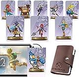 Tarjeta Amiibo de la serie Zelda de 25 piezas NFC con dos enlaces, compatible con juegos de Wii U Switch, Skyward Sword HD, Breathe of The Wild, tarjeta grande