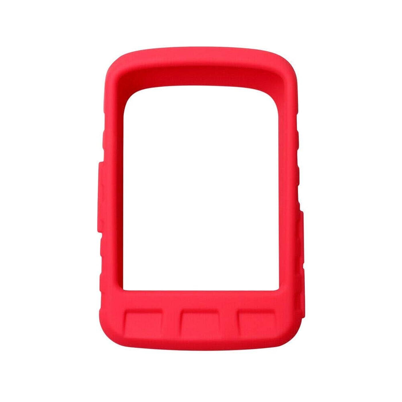 船員複製する乗ってDeylaying シリコーン 保護の カバー Wahoo Elemnt Roam 用 - GPS 自転車 コンピューター カバー 耐衝撃性 プロテクター と スクリーンフィルム (赤)