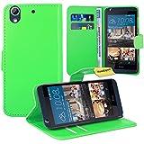 HTC Desire 626 626G Handy Tasche, FoneExpert® Wallet Hülle Flip Cover Hüllen Etui Ledertasche Lederhülle Premium Schutzhülle für HTC Desire 626 626G (Grün)