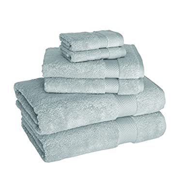Luxury 6-Piece Hotel and Spa Towel Set - Soft and Thick Bath Towels Made with 100% Turkish Cotton