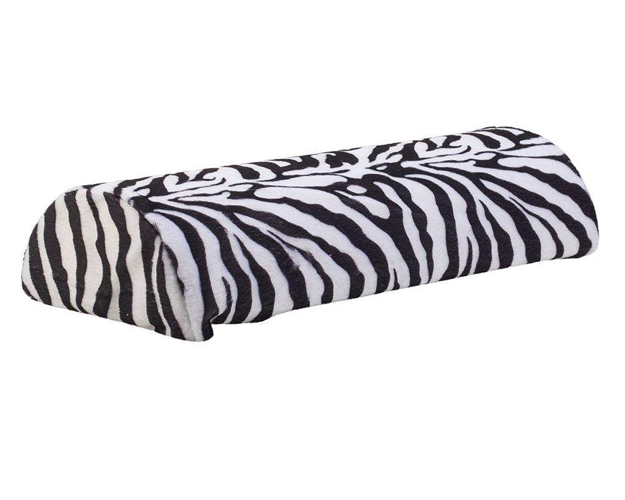 ほとんどの場合臭い行うマニキュアとネイルアートデザインアプリケーションのための素晴らしい品質のプロフェッショナルサロンツールアクセサリーソフト枕/黒と白色のシマウマパターンでハンドレスト