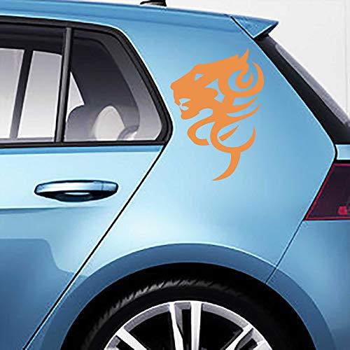 JINTORA Sticker - Autocollant - Jeu d'autocollants de Voiture Tigertribal, 2 pièces. 30cm x 21cm Orange - réglage Lunette arrière Voiture - Style de Voiture