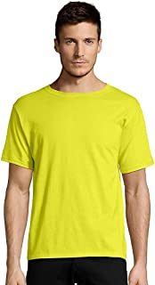 Hanes Men's Tagless T-Shirt, Large (Safety Green).
