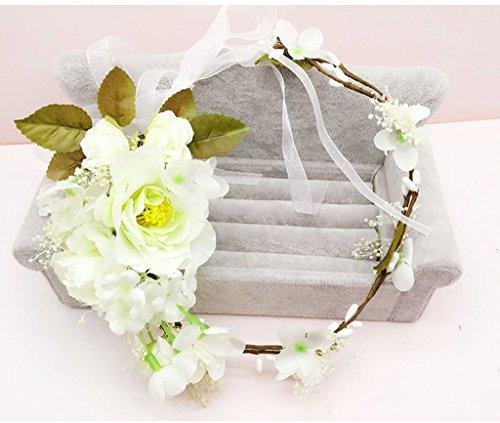 & Coiffe des fleurs de la Couronne Couronne de fleurs, Bandeau Fleur Garland Fête de mariée à la main à la main Fait bande Bandeau Bracelet Bande de cheveux couronne de couronnes de fleurs ( Couleur : C )