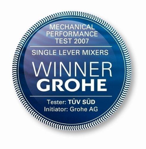 Grohe – Feel Spültischbatterie, hoher Auslauf, herausziehbarer Mousseur, Chrom - 8