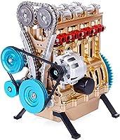 V4カーエンジンモデルメタル4気筒エンジンモデル大人用エンジンアセンブリキット