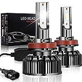 H8/H9/H11 LED Headlight Bulbs, Ultra Bright 90W 10000LM Low/High Beam Led Headlight Fog Light Halogen Replacement Kit 6500K Cool White, Led Light Bulbs for Cars/Trucks ( 2 Pack)