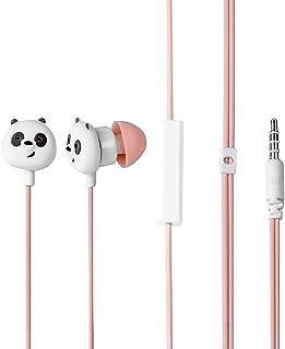 MINISO x We Bare Bears - Auriculares in-ear con micrófono, cómodos auriculares lindos para teléfonos móviles Apple Xiaomi ...