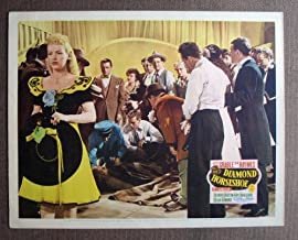 BQ20 Diamond Horseshoe BETTY GRABLE/D HAYMES Lobby Card. This is an original lobby card; not a dvd or video. Lobby cards were used to advertise film playing at theater and they measure 11 by 14 inches.