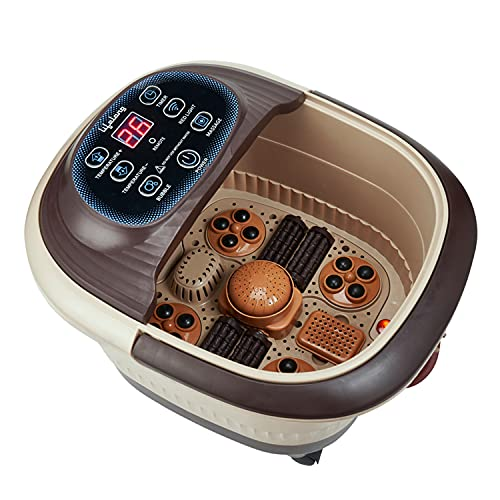 Lifelong LLM279 Foot Spa and Massager with Automatic Rollers, Digital Panel, Bubble Bath & Water Heating Technology for Pedicure, Pain relief & Foot Care…