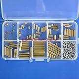 Electronics-Salon M2 Brass Female-Female Standoff Screw Nut Assortment Kit, Standoff 3mm 5mm 8mm 10mm 12mm 15mm 18mm 20mm 25mm, Screw M2 x 4mm.