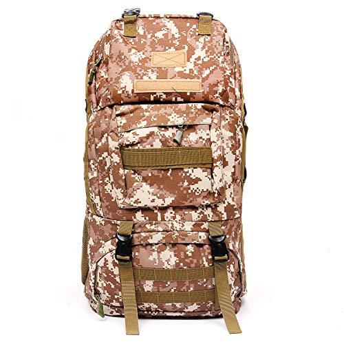 Ys-s Personalizzazione del Negozio 65L Fuori Zaino Militare zanaonne tattico Borsa Tending Escursionismo Trekking Zaino (Color : Desert Digital)