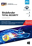 Bitdefender - 1 Computer,1 Year - Total Security | Windows | Latest Version | Email Delivery in 2 Hours- No CD |