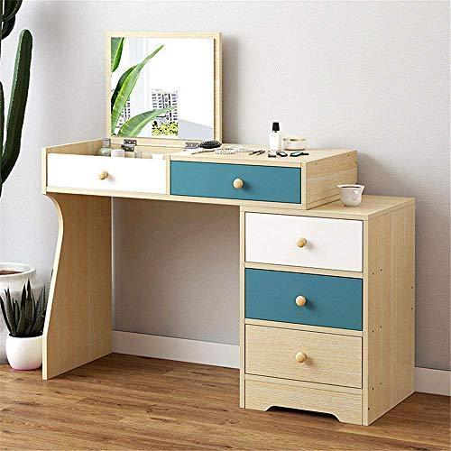 NBVCX Home Renovation Dressing Table European Style Dressing Table Simple Modern Dressing Table Simple with Mirror Bedroom Dressing Table Vanity Desk Set (Color : Beige Size : 80x40cm)