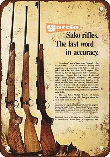 "DKISEE Aluminum Safety Sign 1973 Sako Model 72 Rifles Metal Sign Garage Signs Durable Rust Proof Warning Sign Aluminum Metal Sign 18\""x24\"""