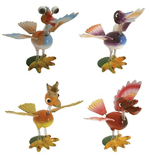 Molloni animali Funny Bird 'UCCELLI' con STELO - CONFEZIONE Pz.12 (n.3 per tipo) (misure: cm.15x12h.)