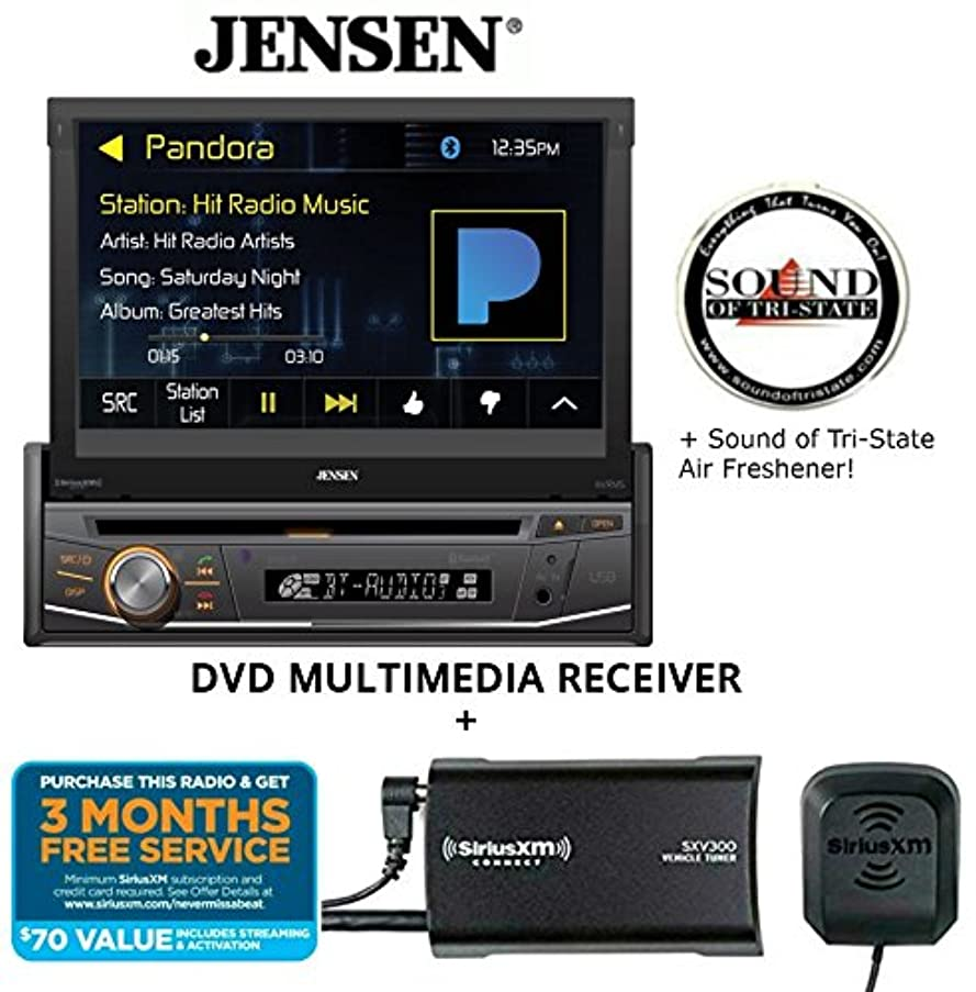 Jensen VX3518 DVD Receiver w/SiriusXM SXV300KV1 Satellite Radio Tuner and a SOTS Air Freshener