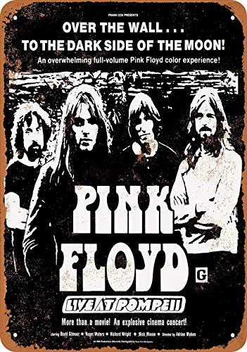 Sibian 1972 Pink Floyd Live at Pompeii Movie Retro Blechschild Nostalgie Auto Garage Dekoration Zuhause Küche Bar Dekoration Anhänger 30,5 x 20,3 cm
