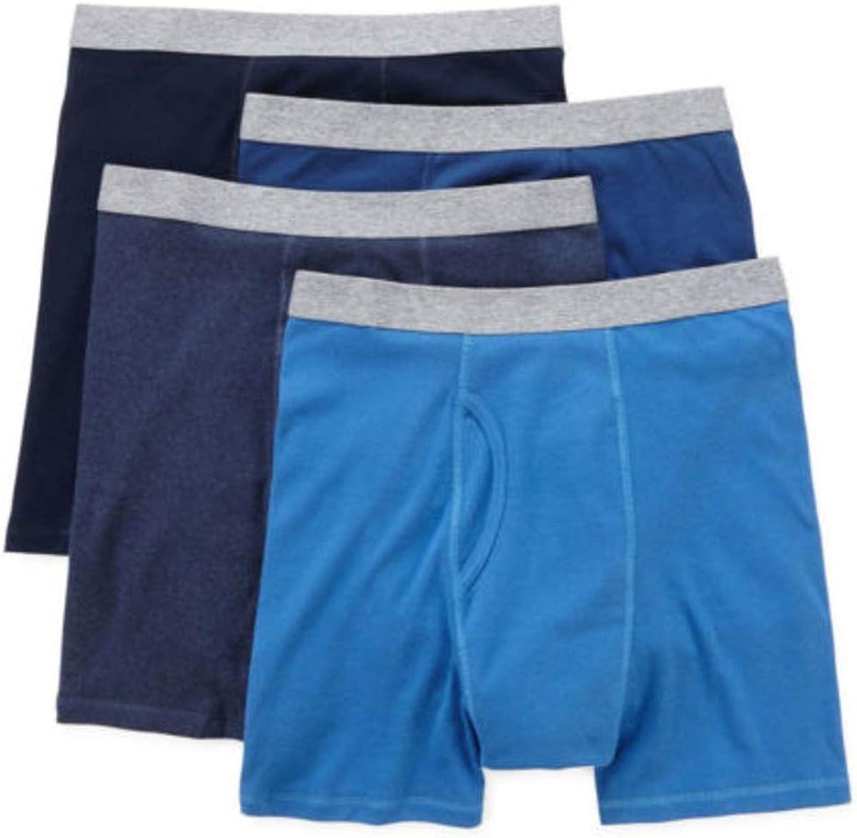 Stafford 4 Pack Boxer Briefs 100% Cotton