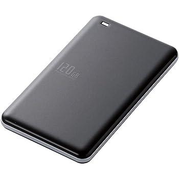 エレコム 外付けSSD 120GB USB3.0 TLC 小型 軽量 名刺サイズ ブラック ESD-EA0120GBK