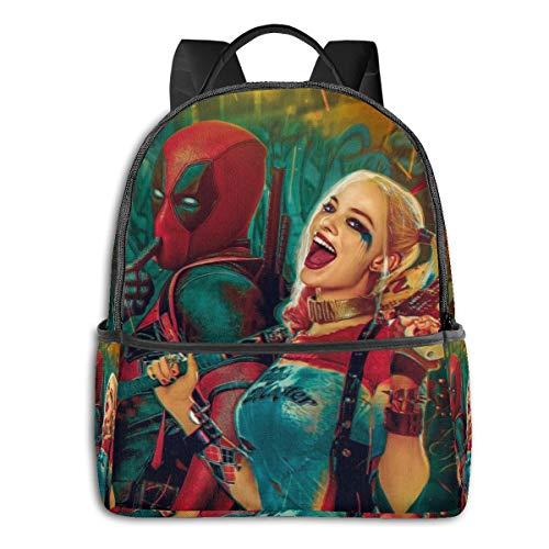 Dead_Pool Harley Quinn - Mochila unisex para estudiantes (36,8 x 30,5 x 12,7 cm)
