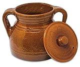 Barro Refrectario Alecook Ptra25 Puchero Tradicional De 25 Cm 4.5 Litros