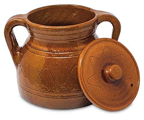 Alecook Ptra30 Puchero Tradicional De 30 Cm, 8 Litros, Barro Refrectario