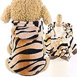 puseky Disfraz de cachorro cálido para perro, gato, disfraz de fiesta de Halloween para mascotas, perro, gato, Hooie animal otoño invierno ropa