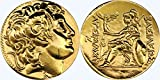 Golden Artifacts Alexander The Great and Athena, Famous Greek Coin, Goddess of Wisdom, Unique Gift, Greek Mythology (68-G)