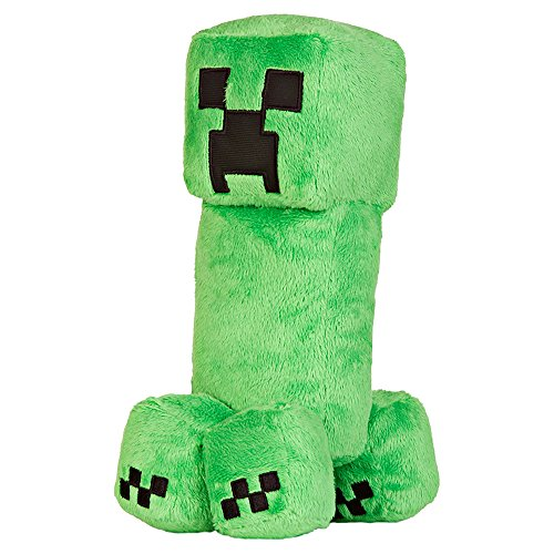 JINX Minecraft Creeper Plush Stuffed Toy, Green, 10.5