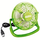 mumbi Ventilatore USB, mini ventilatore piccolo per scrivania con interruttore on / off, verde
