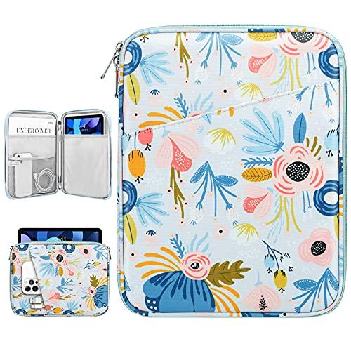 Dadanism 9-11 Pulgadas Funda Blanda para Tablet, Impermeable Bolsa para Tableta para iPad 10,2 2020/2019, iPad Pro 11 2018-2021, iPad Air 4 10,9 2020, Galaxy Tab A7 10,4/Tab S6 Lite, Verano Azul