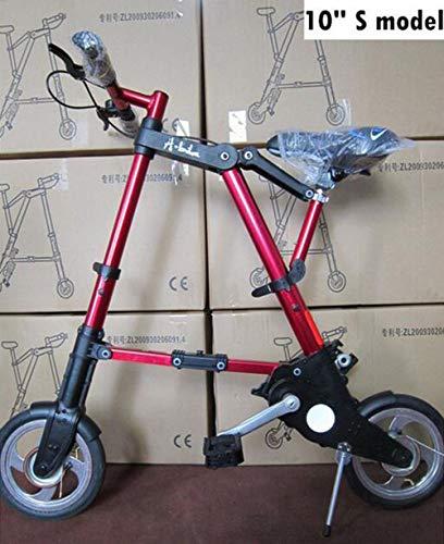 MEICHEN Nieuwe fiets unisex 10 inch wielen mini ultra licht vouwfiets metro transport voertuig racefiets buitensporten