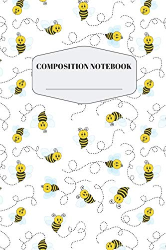 Bee Composition Notebook: Cute Flying Bumble Bee Notebook for Elementary and Middle School | Beautiful Buzzing Honey Bee Composition Journal for Kids ... for Taking Notes with Forest Animal Pattern