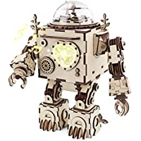 ROKR 3D Assembly Wooden Robot Toy Figure Puzzle DIY Music Box