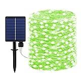 Dalugo 20M 200 LED Guirnaldas Luces Exterior Solar Verde