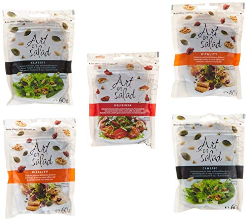 Art on Salad Salat Toppings Mix Pack - 2x Classic, 2x Vitality, 1x Deliziosa, Kernemischung , 1er Pack (1 x 300 g)