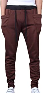 XINHEO Men Casual Straight Relaxed-Fit Harem Pants Oversized Jogger Pant
