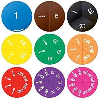 EAI Education Double-Sided Fraction/Decimal Circles - 30 Sets of 51