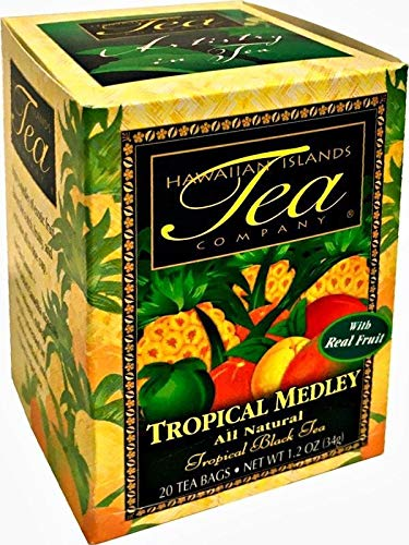 Hawaiian Islands Tropical Fruit Medley Black Tea, All Natural - 20 Teabags