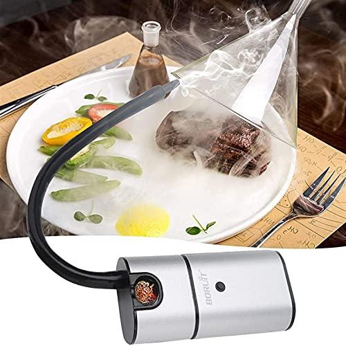 GaoYunQin Pistola para Fumar Alimentos, Portátil Cóctel de Humo, Infusor para Fumadores de Interior para Carne, Bebidas, BBQ, Queso, con Accesorios y Astillas de Madera