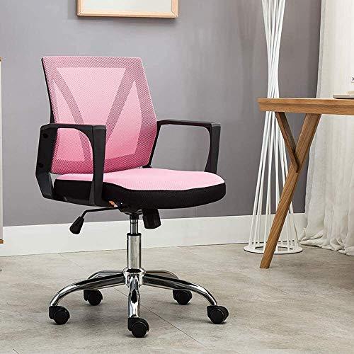 WYL Sedia da Ufficio ergonomica/Sedia da Ufficio e-Sportiva/Poltrona Girevole, Poltrona Elegante e Traspirante Sedia per Computer, Multi-Colore Opzionale (Size : Pink)