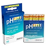 pH Test Strips 125ct - Tests Body pH Levels for Alkaline & Acid Levels Using Saliva and Urine. Track and Monitor Your pH Balance & A Healthy Diet, Get Accurate Results in Seconds. pH Scale 4.5-9.0