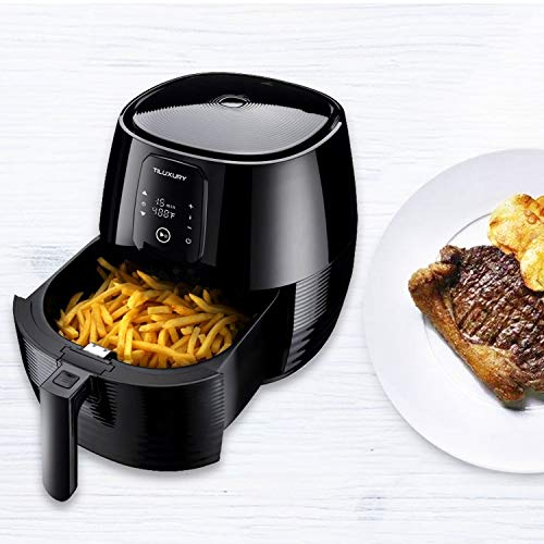 XL 5.8QT Air Fryer, Less Fat Oil Healthy Cooker,For Healthy Fried Food,Temperature Control LED Display Black
