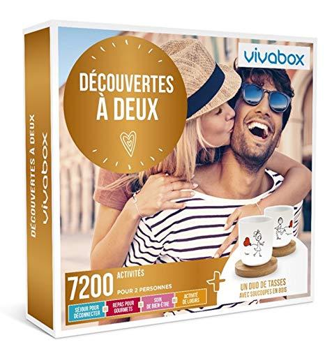 Vivabox - Coffret cadeau couple - DECOUVERTES A DEUX - 7200 activités de couple … + 1 duo de tasses