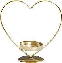 KESYOO Castiçal em formato de coração, retrô, decorativo, castiçal, artigos de festa KESYOO