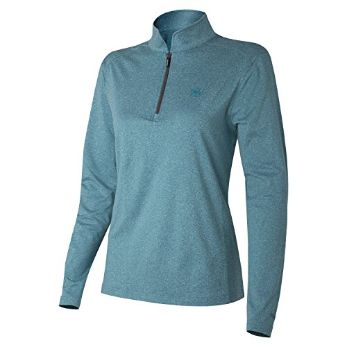 Wilson Mujer Camiseta Deportiva, Thermal Tech, Poliéster/Licra, Turquesa, Talla: XL, WGA700314